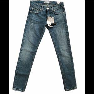 Zara Trafaluc Denim Distressed Jeans Size 2
